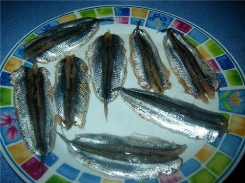 Boquerones aliсados rebozados en harina de tempura Анчоусы в кляре анчоусы - 500 г соль, черный пер... - 4