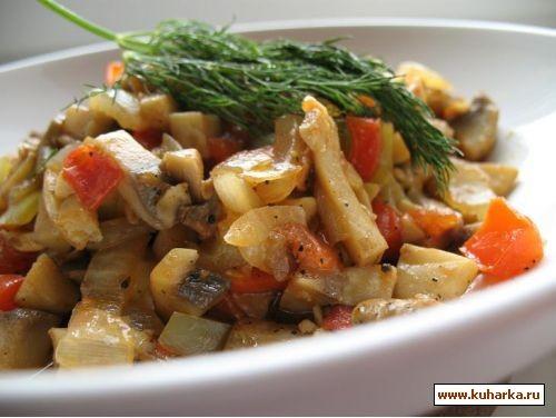 такой простой и вкусный рецепт из книги салаты и закуски грибная икра 500 г шампиньонов,1 луковица,... - 2