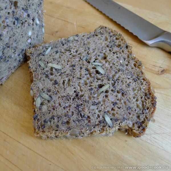 """Пришла булками похвастаться А вот """"черный хомяк"""" : И в разрезе: Хлеб получился классный - 3"""