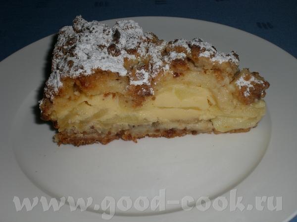 Яблочный пирог (рецепт взят из немецкого журнала) Мука – 400г Сахар – 275г Ванилин – 1 пакетик Масл... - 2