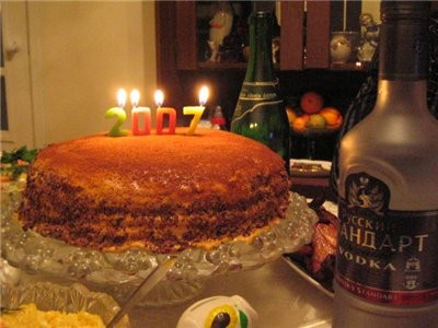 """на сладкое был торт """"4ёрный принц"""" от Лола (времени украшать не было ) ето гостинца к подаркам близ..."""