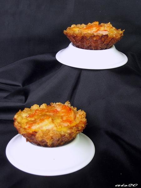 Рисовые тарталетки с креветками