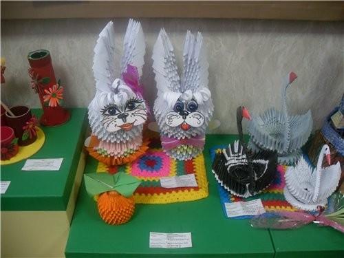 недавно проходила в городе творческая выставка детей города