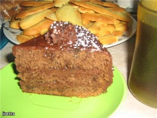 """Шоколадный торт с трюфелями Рецепт из книги """"Мир выпечки - 2"""
