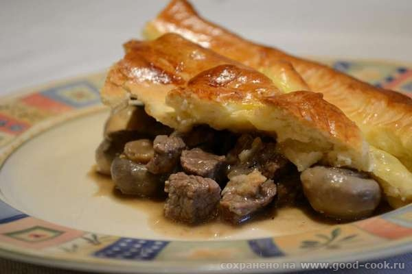 meat pie cut