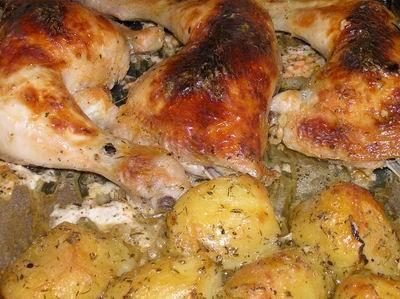 Ужинали мы креветками в чесночном соусе Курочка марин - 2