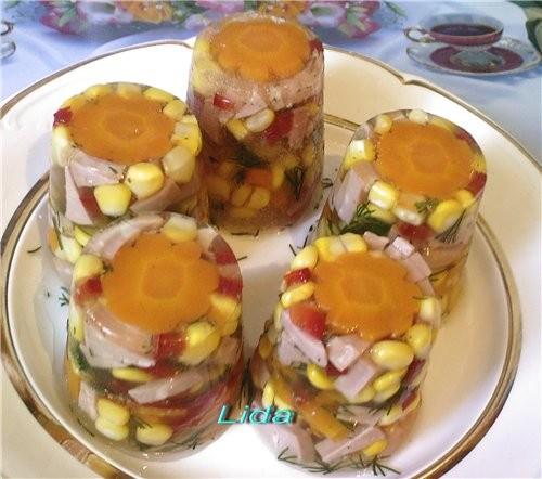 Заливное из колбасы с желатином рецепт пошагово 69