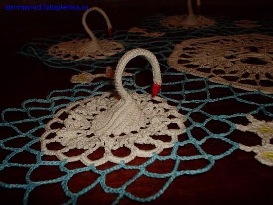 Ну и мои любимые лебеди Идея самого лебедя подстмотрена в детстве у знакомой, все остальное абсолют... - 3