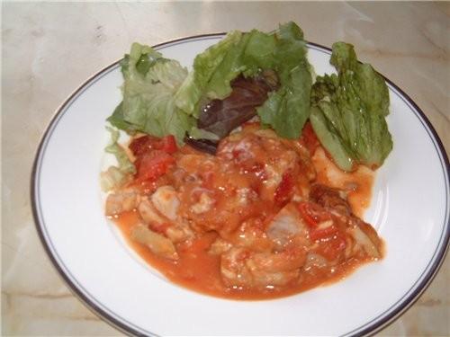 Сегодня приготовила рыбку в горчично - томатном соусе - 2