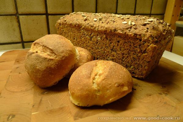 """Пришла булками похвастаться А вот """"черный хомяк"""" : И в разрезе: Хлеб получился классный - 2"""