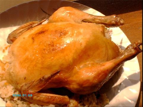 Наш обед - Жаж махши (курица, фаршированная рисом