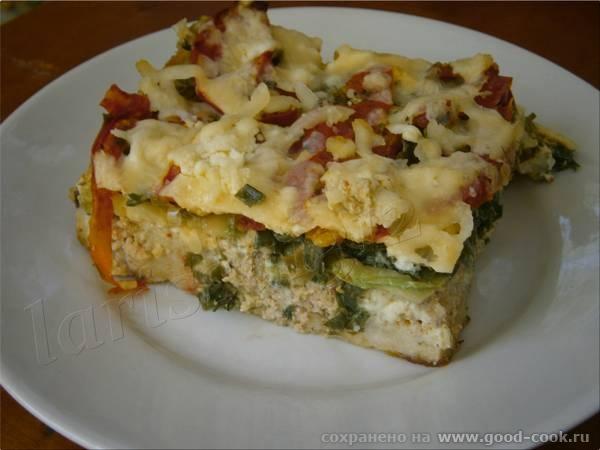 Запеканка из чёрствого хлеба с мясом, зеленью и овощами Запеканка из бобовых с купатами и тыквой Салат из помидоров... - 2