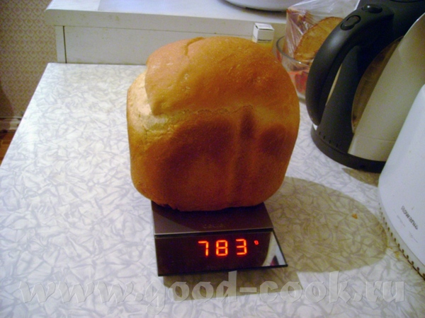 Ну вот, выношу на ваш суд мой первый пшеничный хлебушек: Рецепт от