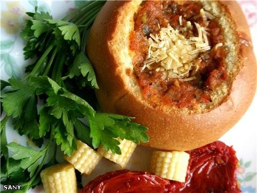 ЗАВТРАК В БУЛОЧКЕ Булочки Яйца Сыр типо моцарелла Охотничьи сосиски или домашняя колбаска Соус для... - 2