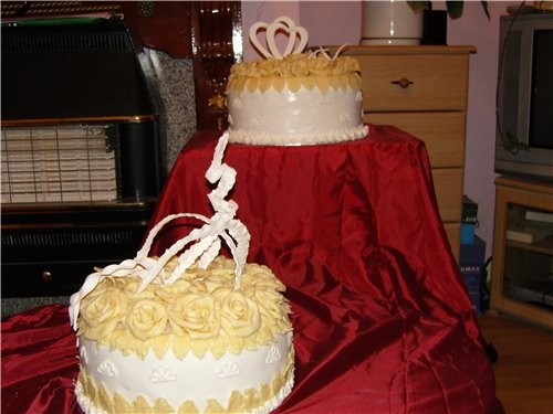 мои первые свадебные торты, kotorye delala dlya podrugi vchera