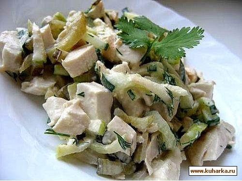 салат 1 куриная грудка готовая(тушеная,я покупаю готовые в Ашане) 4-5 штук отваренного в кожуре кар... - 2