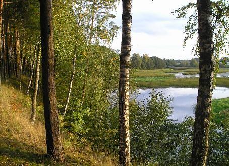 Золотая осень на реке Выханду