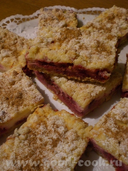 Brombeer-Streusel-Stьckchen Ежевичные пирожные со штройзелем - 2