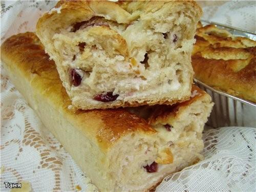 Творожно-вишневый торт-пай Пирог с творогом и ежевикой Творожный пирог с яблоками и сливами из варе... - 5