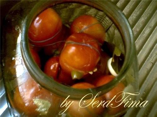 вот и мои помидорки по рецепту Соленые зеленые помидоры на зиму см