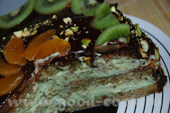 Зелёный торт (фисташковый) - 2