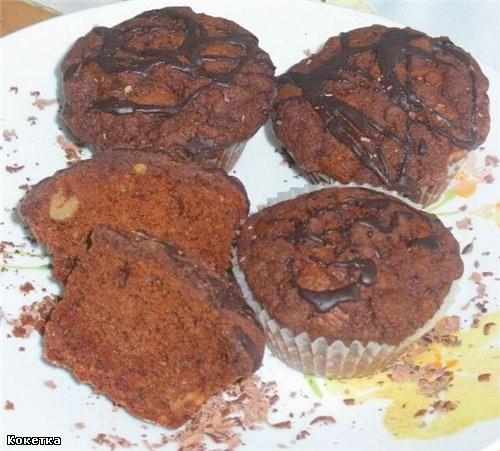 Brownie-Streusel-Muffins Продукты для примерно 12 штук: 275 гр муки 1 ст