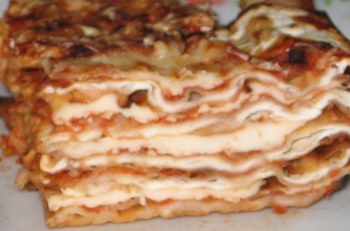 И еще одно блюдо с Песаха: Лазанья из мацы - 3
