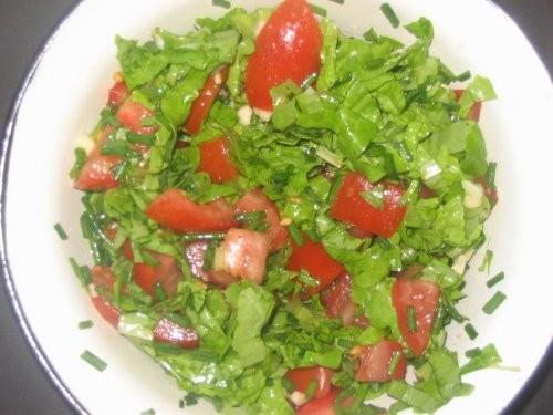 Рыбные котлеты с картофельным пюре и салатом (помидор, зел - 2