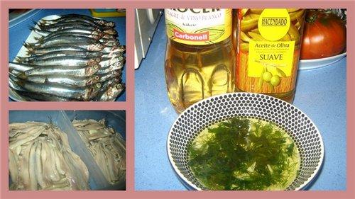 Boquerones en vinagre Анчоусы под маринадом Я сделала два вида маринада: 1 - 3
