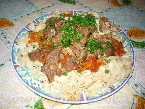 Лагман из индейки рецепт с пошагово