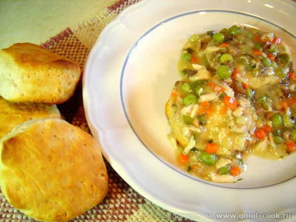 Biscuits with chicken gravy. (Булочки с куриной подливой)
