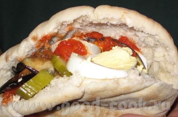 Саби(а)х Еще одно популярное блюдо израильской кухни, правда в продаже встречается реже фалафеля и... - 6