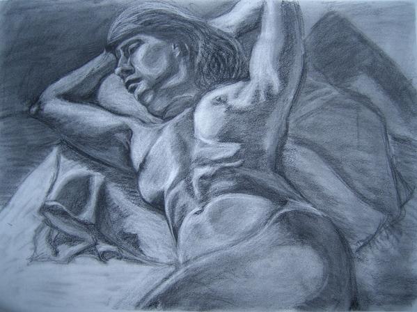 Ща я вам навалю своих рисунков Figure drawing типа надо было вписать в лист, чтобы фигура касалась... - 8