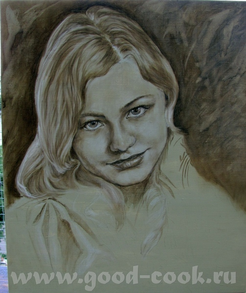 Замучилась с этим портретом, сегодня явно не мой день - спешила, вот результат