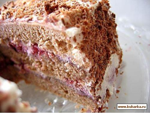 Слоеный торт вишневый сад из книги шоколадное искушение 100г слив - 2