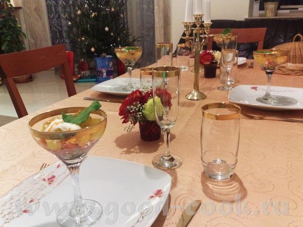 сам Рождественский ужин был скромный