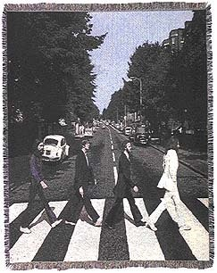 да у меня не антикварный, у меня вот: The Beatles Abbey Road Cotton Tapestry Throw Blanket