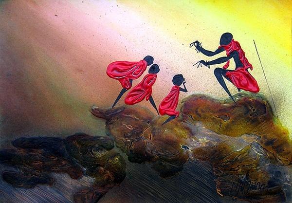 Вчера показали Африку Moder Art Decor, севодня- xудожники из Африки и то как они рисуют Африку Al A... - 5