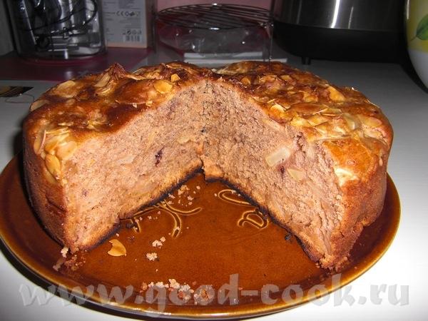 Пирог яблочно-брусничный с корицей - 2