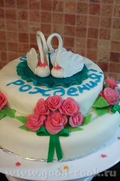 Вот мой первый мастичный торт - 4