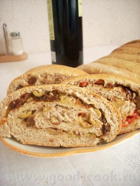 все пекут, пекут, внесу и я свою лепту в хлебо-выпечку Итальянский батон с моццареллой, оливками и...