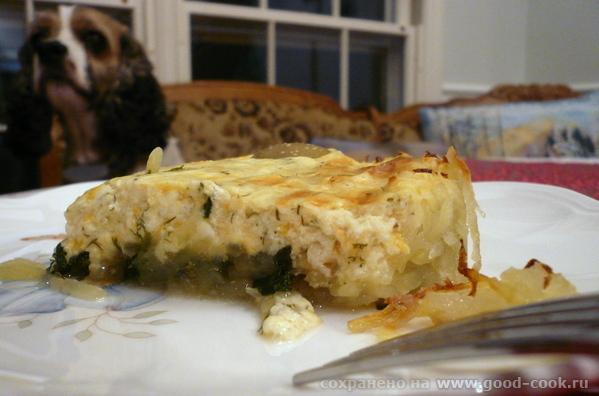 Сырная запеканка в картофельной корзине