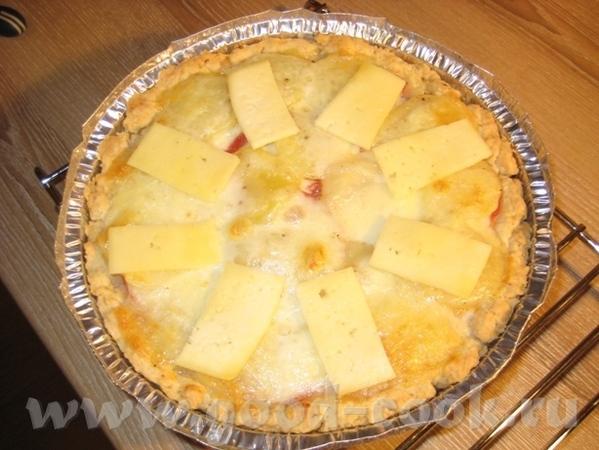 Тарт с картошкой, помидором и двумя сырами Рецепт теста взят в журнале Хлеб и Соль за август 2010 - 7