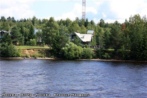 Подплываем к деревне Верхние Мандроги - 3