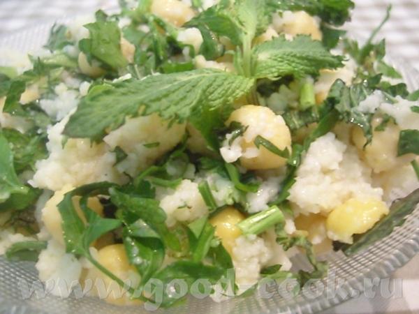 Салат с нутом и булгуром