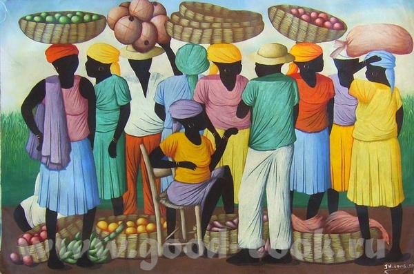 HAITI- Гаитянское искусство HAITI- xудожник J