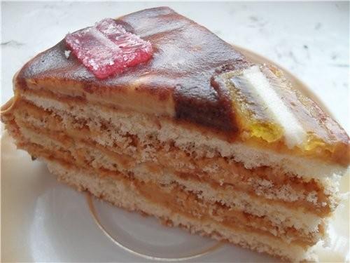 А еще у нас был тортик Коржи пакупные, крем (сгущенка+масло), и шоколадная глазурь+мармелад А также... - 2