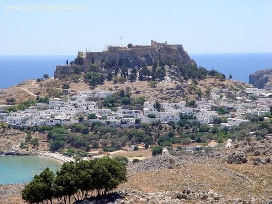 Вид на древний город Линдос