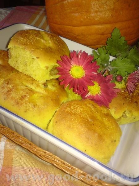 ТЫКВЕННЫЕ БУЛОЧКИ Рецепт найден где-то в кулинарных блогах, ,но точнее не могу указать,к сожалению - 2