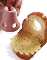 Бутерброд «Бычок» ОТСЮДА Компоненты 1 уголок хлеба, 2 ломтика вареной колбасы, 1 ломтик огурца, 2 ф... - 4